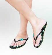 Ladies Casual FlipFlops(Black)